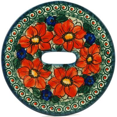 Polish Pottery 10-inch Stool Insert | Boleslawiec Stoneware | Polmedia H7121I