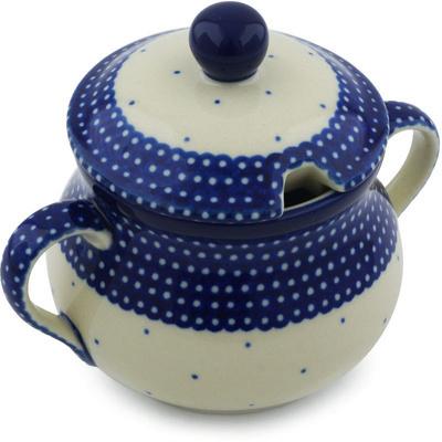 Polish Pottery 7 oz Sugar Bowl | Boleslawiec Stoneware | Polmedia H2343H