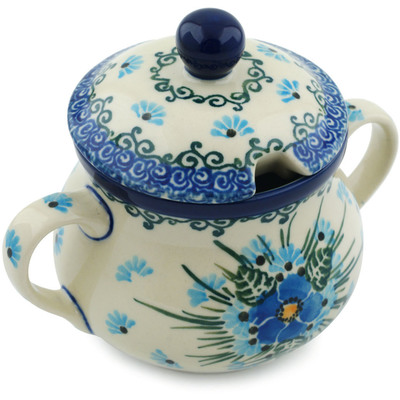 Polish Pottery 7 oz Sugar Bowl | Boleslawiec Stoneware | Polmedia H0665I