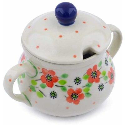 Polish Pottery 7 oz Sugar Bowl   Boleslawiec Stoneware   Polmedia H0856J