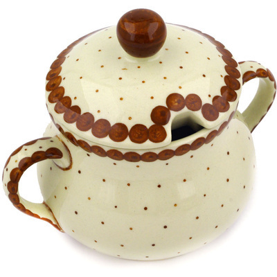 Polish Pottery 7 oz Sugar Bowl | Boleslawiec Stoneware | Polmedia H1794E
