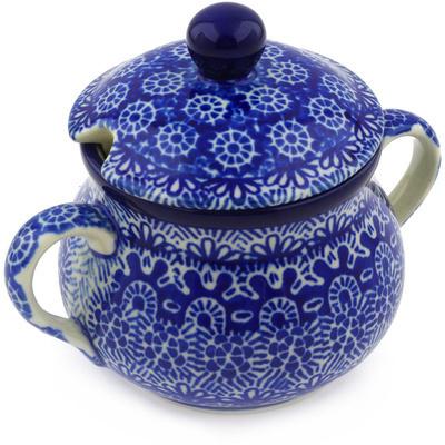 Polish Pottery 7 oz Sugar Bowl | Boleslawiec Stoneware | Polmedia H4183F