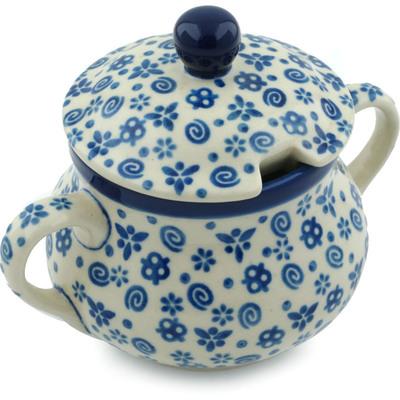 Polish Pottery 11 oz Sugar Bowl | Boleslawiec Stoneware | Polmedia H1429B