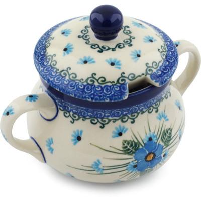 Polish Pottery 11 oz Sugar Bowl | Boleslawiec Stoneware | Polmedia H0666I