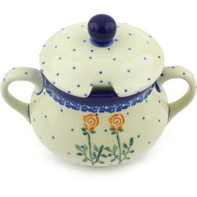 Polish Pottery 11 oz Sugar Bowl   Boleslawiec Stoneware   Polmedia H4005G