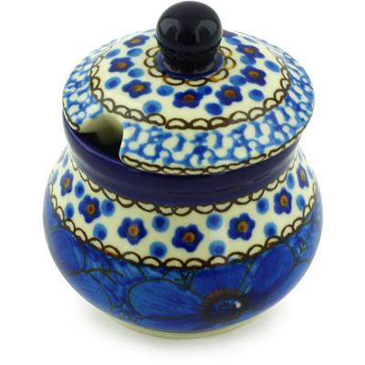 Polish Pottery 5 oz Sugar Bowl | Boleslawiec Stoneware | Polmedia H3548G