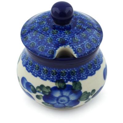 Polish Pottery 5 oz Sugar Bowl | Boleslawiec Stoneware | Polmedia H3747A