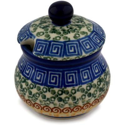 Polish Pottery 5 oz Sugar Bowl | Boleslawiec Stoneware | Polmedia H0014D