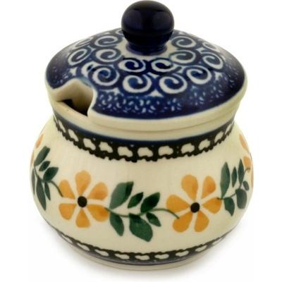 Polish Pottery 5 oz Sugar Bowl | Boleslawiec Stoneware | Polmedia H3749A