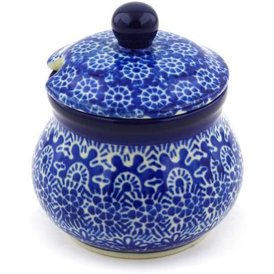 Polish Pottery 5 oz Sugar Bowl | Boleslawiec Stoneware | Polmedia H3771F