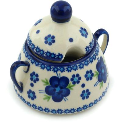Polish Pottery 12 oz Sugar Bowl | Boleslawiec Stoneware | Polmedia H6345F