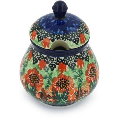 Polish Pottery 8 oz Sugar Bowl | Boleslawiec Stoneware | Polmedia H8560G