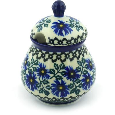 Polish Pottery 8 oz Sugar Bowl | Boleslawiec Stoneware | Polmedia H0063F