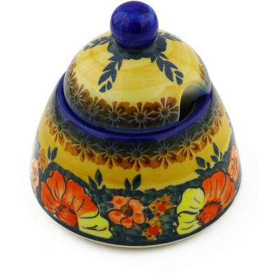 Polish Pottery 12 oz Sugar Bowl | Boleslawiec Stoneware | Polmedia H0739F