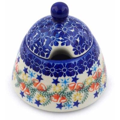 Polish Pottery 12 oz Sugar Bowl   Boleslawiec Stoneware   Polmedia H1259J