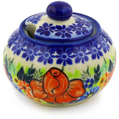Polish Pottery 12 oz Sugar Bowl | Boleslawiec Stoneware | Polmedia H4968F