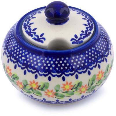 Polish Pottery 12 oz Sugar Bowl | Boleslawiec Stoneware | Polmedia H1300J