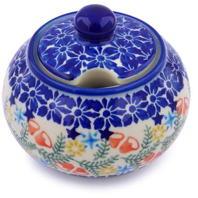 Polish Pottery 12 oz Sugar Bowl | Boleslawiec Stoneware | Polmedia H1299J