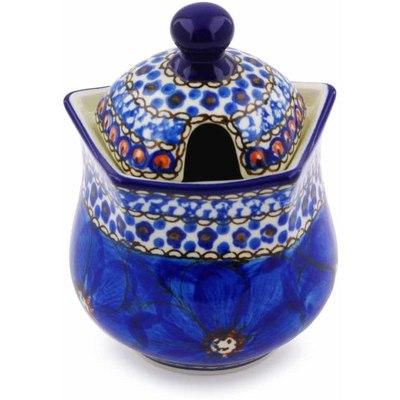 Polish Pottery 11 oz Sugar Bowl | Boleslawiec Stoneware | Polmedia H2965C