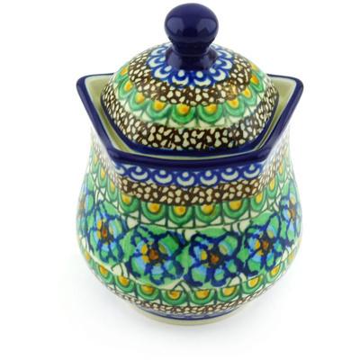 Polish Pottery 10 oz Sugar Bowl | Boleslawiec Stoneware | Polmedia H6302G