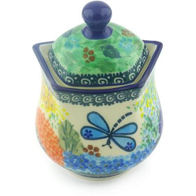 Polish Pottery 10 oz Sugar Bowl | Boleslawiec Stoneware | Polmedia H5846G