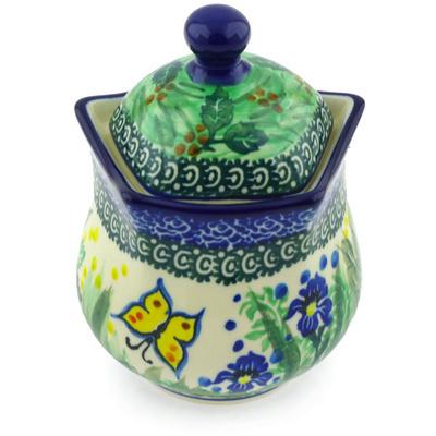 Polish Pottery 10 oz Sugar Bowl | Boleslawiec Stoneware | Polmedia H6924G