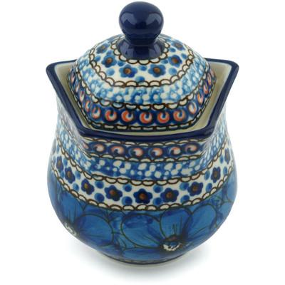 Polish Pottery 10 oz Sugar Bowl | Boleslawiec Stoneware | Polmedia H2951C