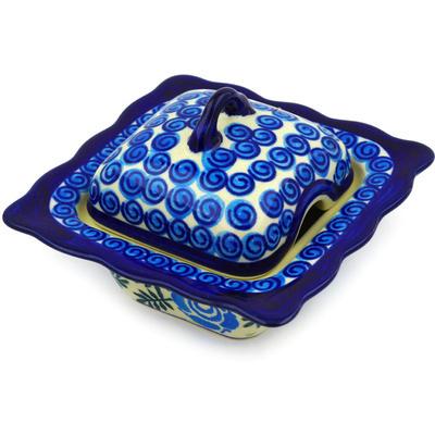 Polish Pottery 3 oz Sugar Bowl | Boleslawiec Stoneware | Polmedia H7476D