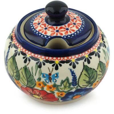 Polish Pottery 10 oz Sugar Bowl | Boleslawiec Stoneware | Polmedia H8896B