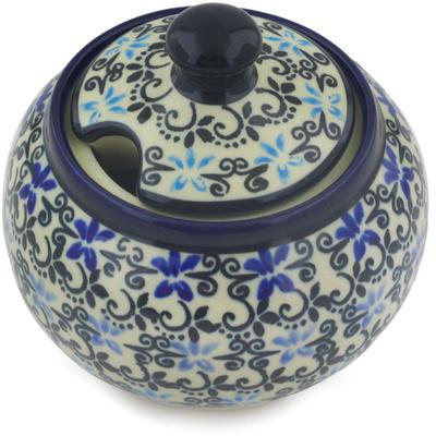 Polish Pottery 10 oz Sugar Bowl | Boleslawiec Stoneware | Polmedia H0787G