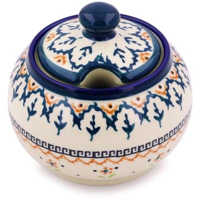 Polish Pottery 10 oz Sugar Bowl   Boleslawiec Stoneware   Polmedia H5910I