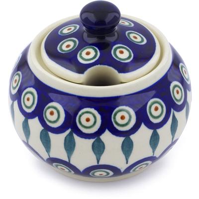 Polish Pottery 10 oz Sugar Bowl | Boleslawiec Stoneware | Polmedia H4933C