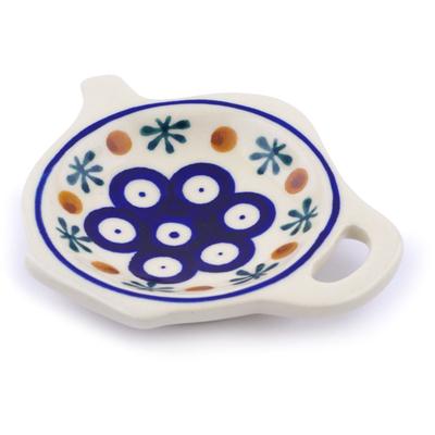 Polish Pottery 4-inch Tea Bag or Lemon Plate | Boleslawiec Stoneware | Polmedia H2356G