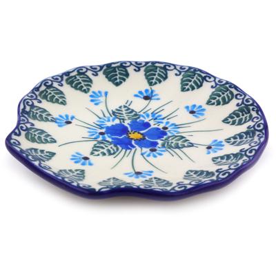 Polish Pottery 4 Inch Tea Bag Or Lemon Plate Boleslawiec Stoneware
