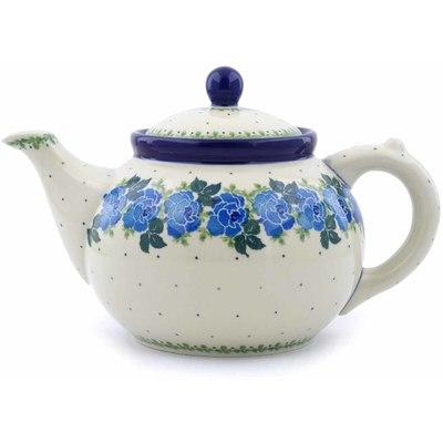 Polish Pottery 40 oz Tea or Coffee Pot | Boleslawiec Stoneware | Polmedia H0512J