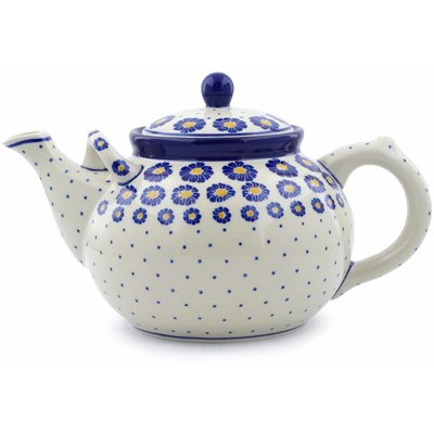 Polish Pottery 61 oz Tea or Coffee Pot | Boleslawiec Stoneware | Polmedia H0495J