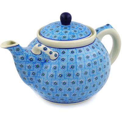 Polish Pottery 105 oz Tea or Coffee Pot | Boleslawiec Stoneware | Polmedia H2836E