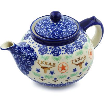 Polish Pottery 52 oz Tea or Coffee Pot | Boleslawiec Stoneware | Polmedia H8198H