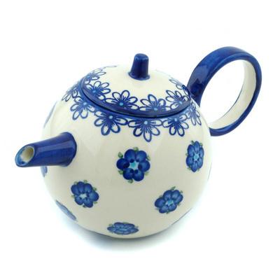 Polish Pottery 22 oz Tea or Coffee Pot | Boleslawiec Stoneware | Polmedia H9451H