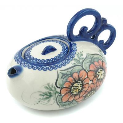 Polish Pottery 27 oz Tea or Coffee Pot | Boleslawiec Stoneware | Polmedia H9405H