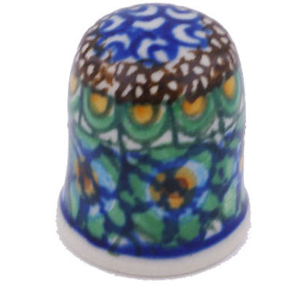 Polish Pottery 1-inch Thimble | Boleslawiec Stoneware | Polmedia H6318G