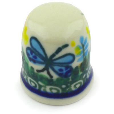 Polish Pottery 1-inch Thimble | Boleslawiec Stoneware | Polmedia H5245G