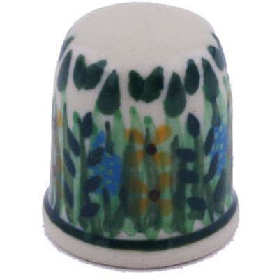 Polish Pottery 1-inch Thimble | Boleslawiec Stoneware | Polmedia H6274G