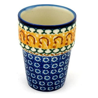Polish Pottery 7 oz Tumbler   Boleslawiec Stoneware   Polmedia H0883B