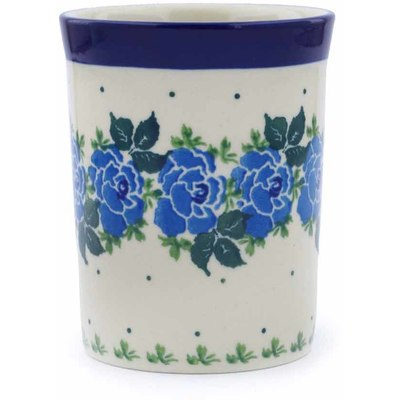 Polish Pottery 8 oz Tumbler | Boleslawiec Stoneware | Polmedia H0393J
