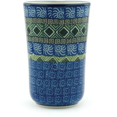 Polish Pottery 15 oz Tumbler | Boleslawiec Stoneware | Polmedia H6859H