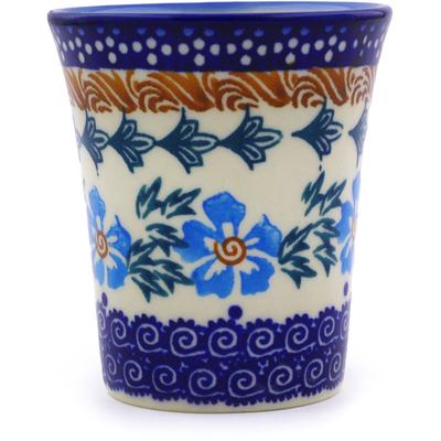Polish Pottery 5 oz Tumbler | Boleslawiec Stoneware | Polmedia H8990I