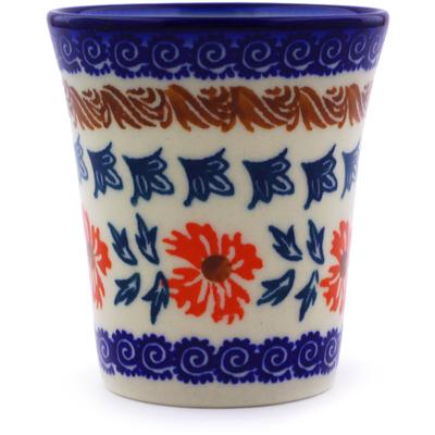 Polish Pottery 5 oz Tumbler | Boleslawiec Stoneware | Polmedia H8989I