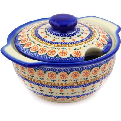 Polish Pottery 101 oz Tureen | Boleslawiec Stoneware | Polmedia H3655E
