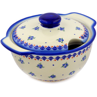 Polish Pottery 101 oz Tureen | Boleslawiec Stoneware | Polmedia H3601E